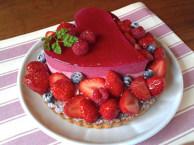 Tarte fraise & Heart mousse