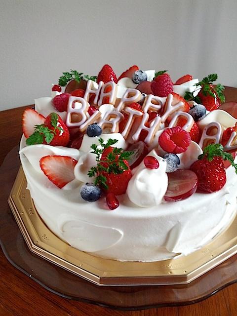 Happy birthday Strawberry sponge cake