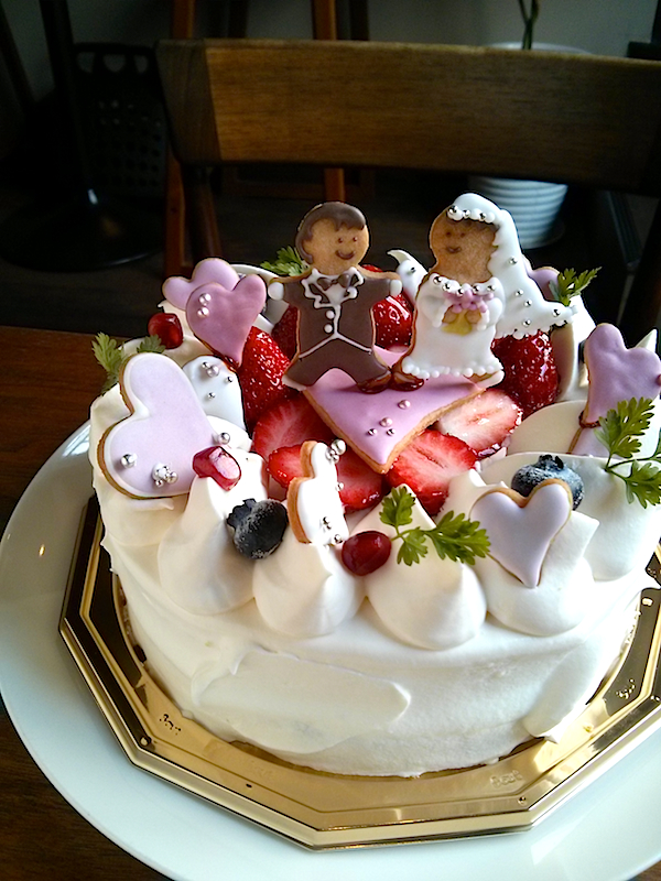 Happy Wedding 苺のショートケーキ