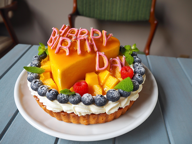 Mango tart with heart mousse φ15cm