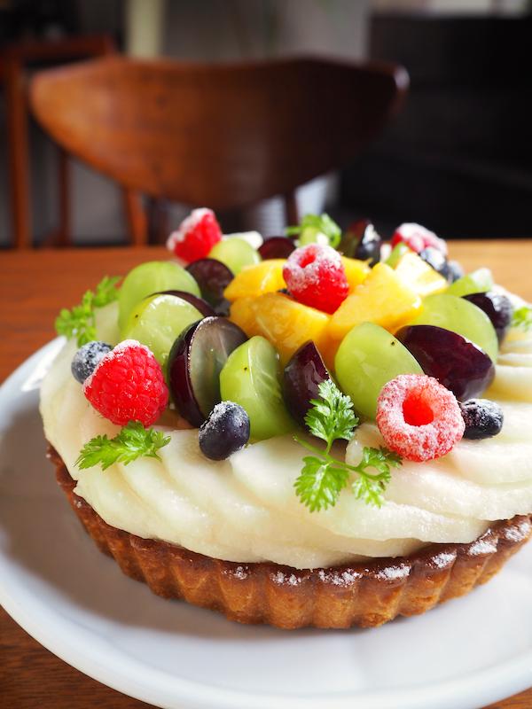 Tarte pear&grapes